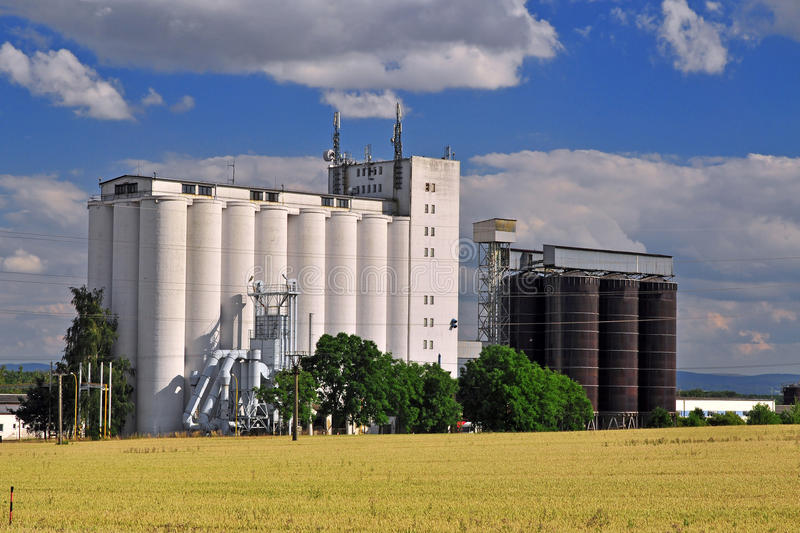 Silo farming stock photography