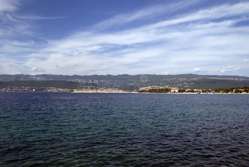 Silo in isola Krk, Croazia fotografie stock libere da diritti