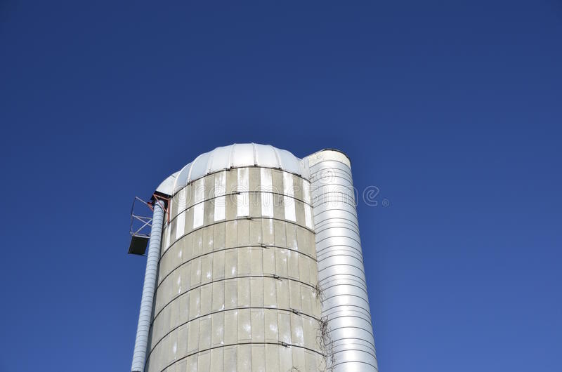 Download Silo Roof, Pipe, And Chute Stock Image. Image Of Feed   62543701