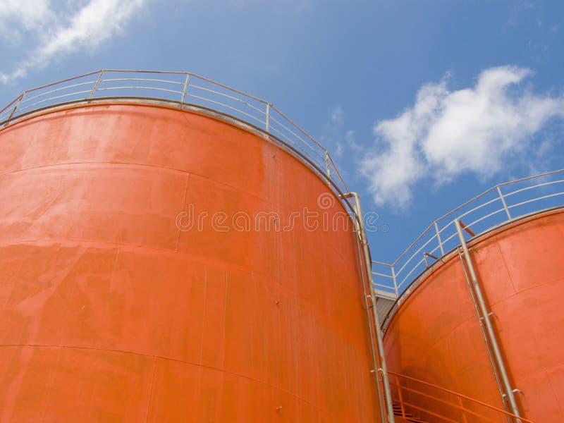 Silo Steel Tanks Stock Image