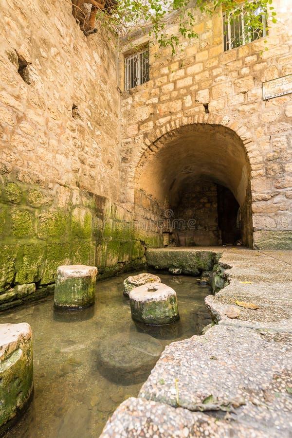 Siloam,耶路撒冷,以色列水池  库存照片