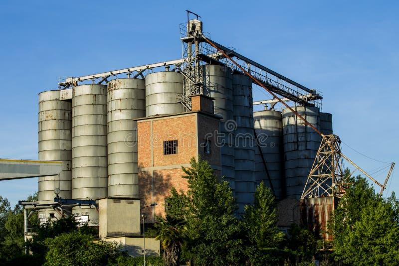 silos imagem de stock