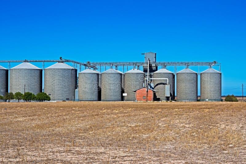 Silos de grain en Afrique du Sud photographie stock