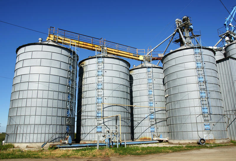 Download Silos and sky stock image. Image of grain, farm, round - 17377261