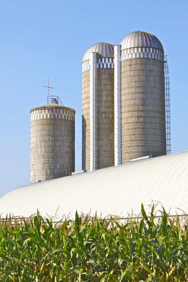Free Silos With Cross Royalty Free Stock Images - 26579489