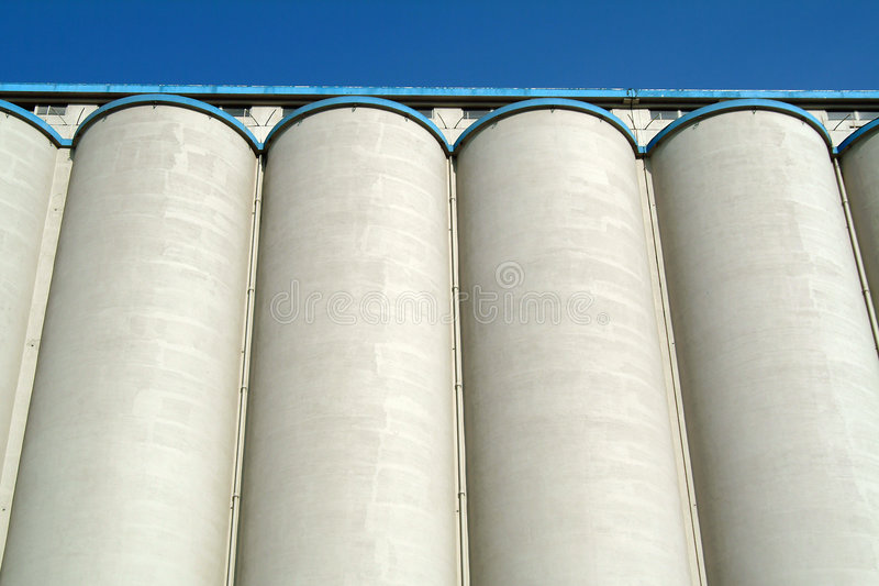 silosowi zbóż zdjęcie stock