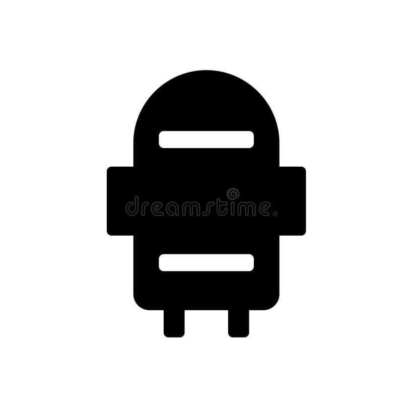 Silosowy ikona wektoru znak i symbol odizolowywający na białym tle ilustracja wektor