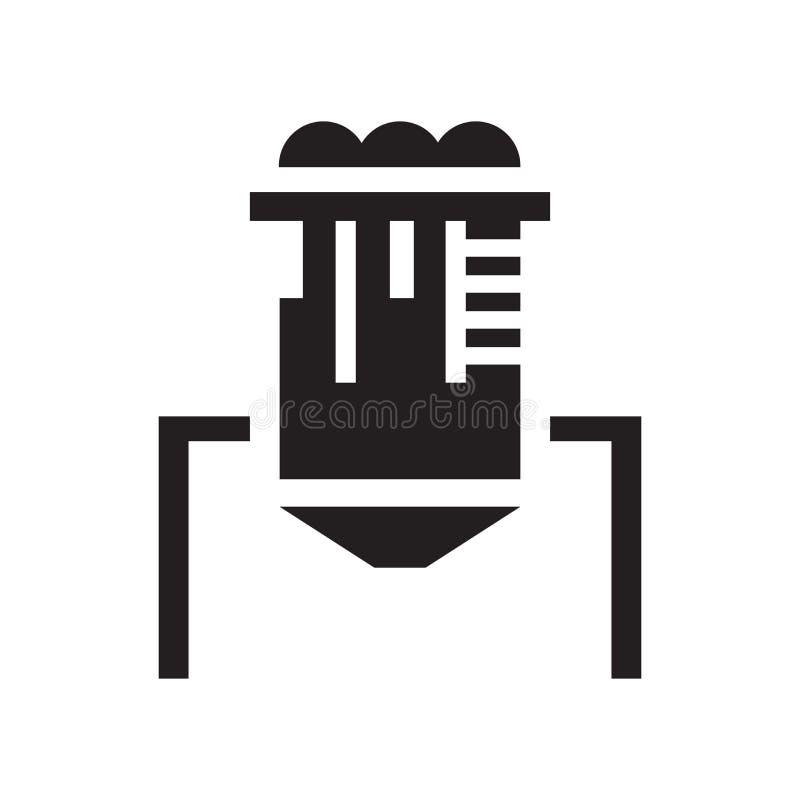 Silosowy ikona wektoru znak i symbol odizolowywający na białym tle, S ilustracji