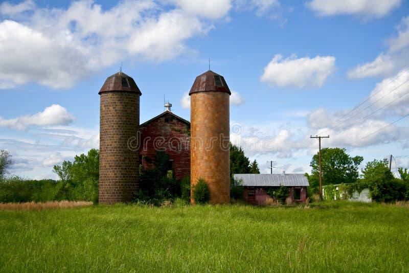 silosy rolnych. fotografia stock