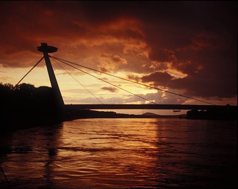 Silouette di Bratislava fotografia stock libera da diritti