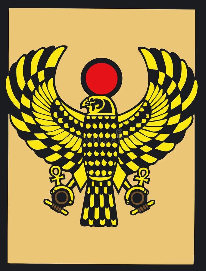 Silouette egipcio stock de ilustración