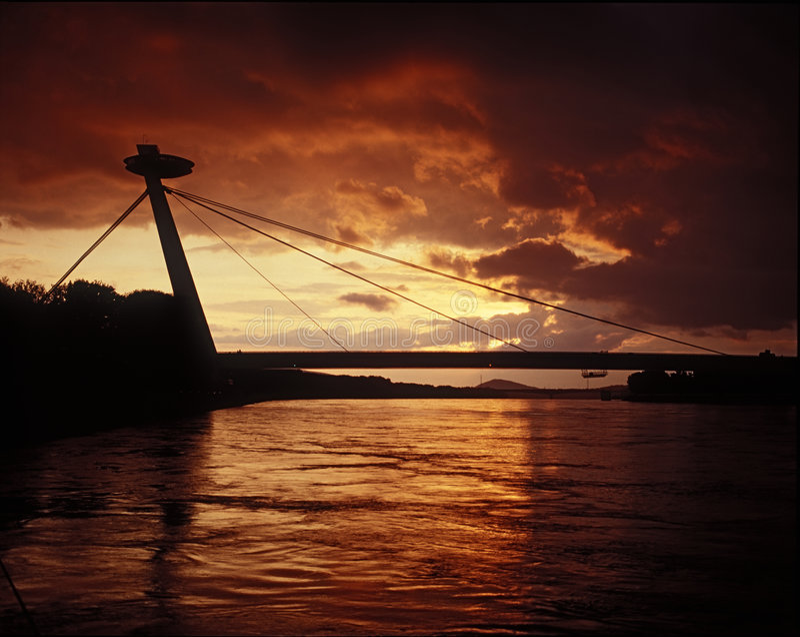 Silouette van Bratislava royalty-vrije stock foto