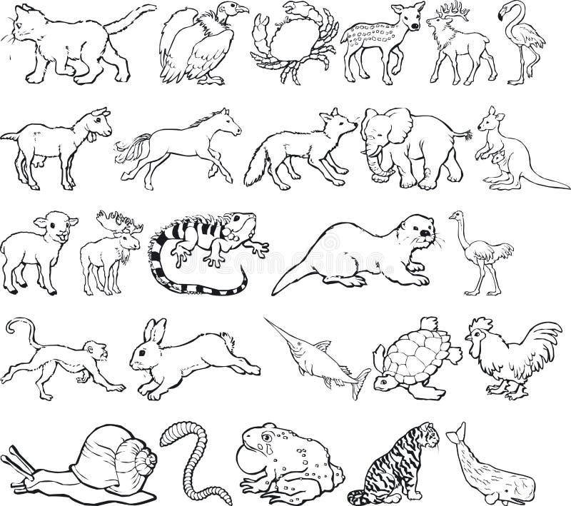 silouettes zwierzęcych ilustracja wektor