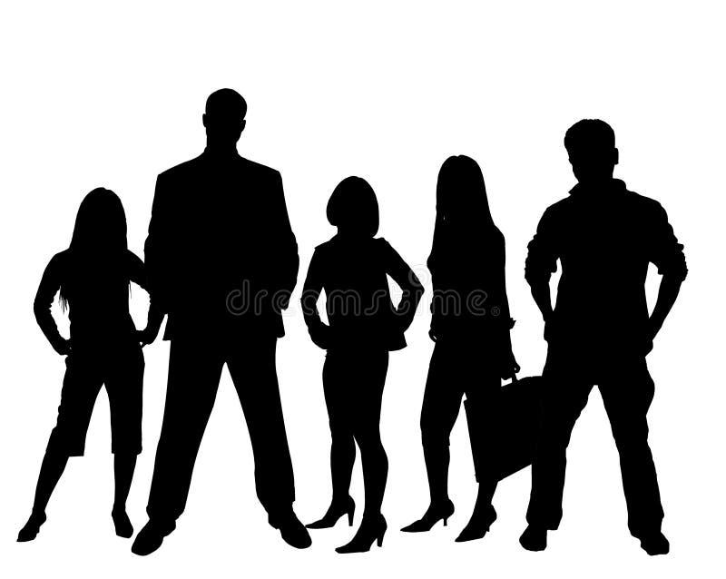 Silouhettes in bianco e nero royalty illustrazione gratis