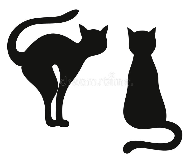 Sils le chat illustration stock