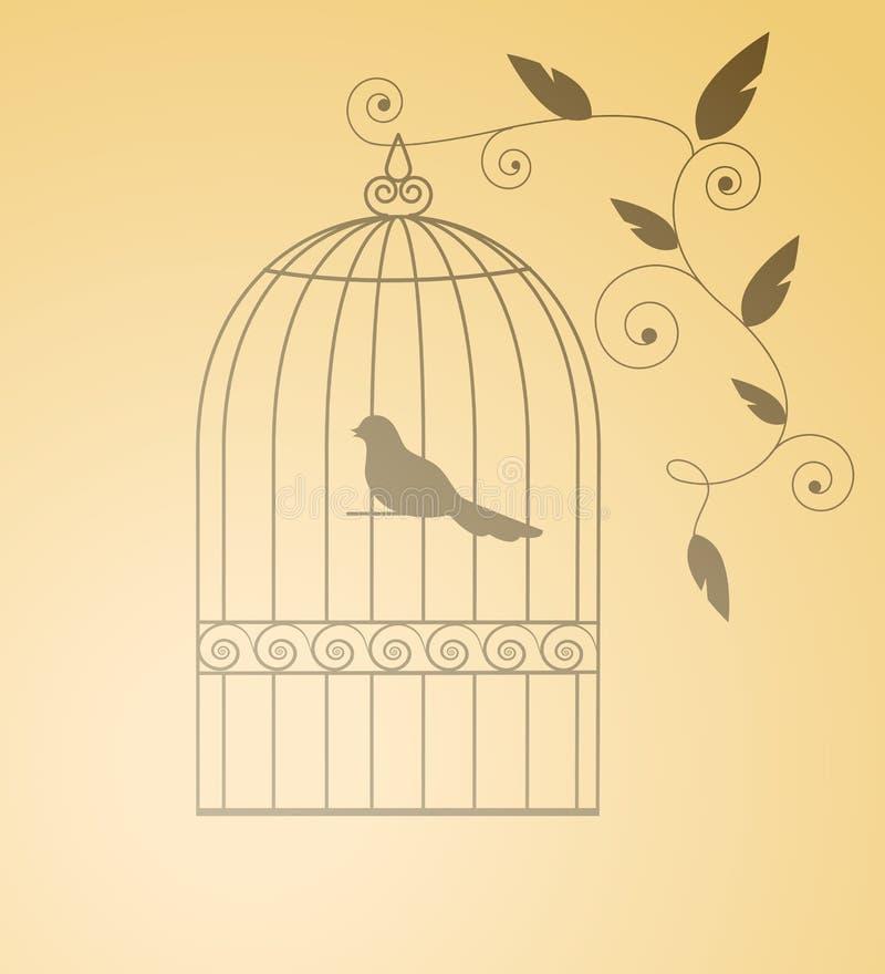 siluet клетки птицы
