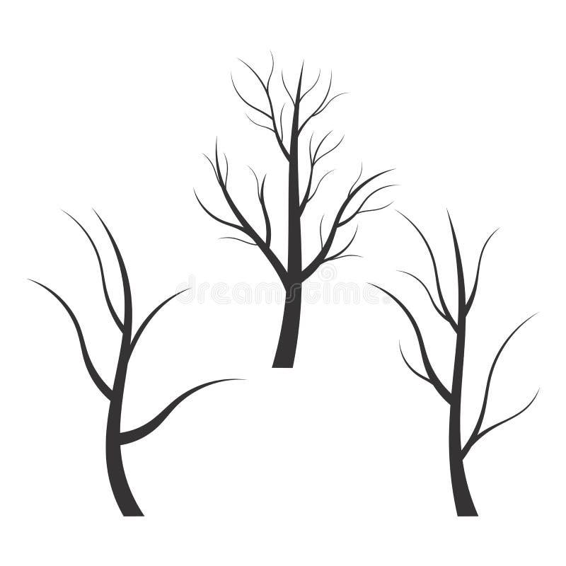 Silueta abstracta del árbol libre illustration