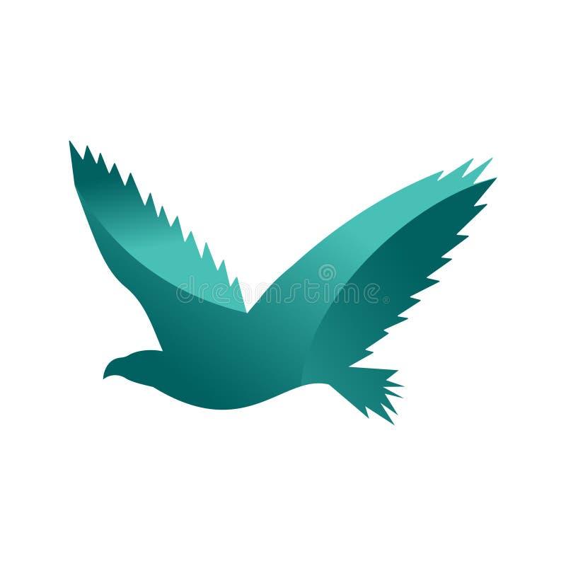 Silueta animal del logotipo del animal doméstico de la selva del águila salvaje del carácter geométrico del extracto del polígono stock de ilustración