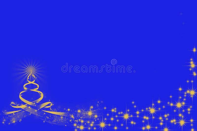 Silueta asombrosa del árbol de navidad y brillo ilustración del vector