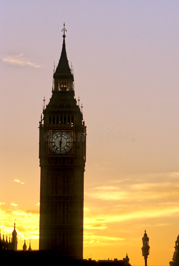 Silueta Ben-Londres grande foto de archivo