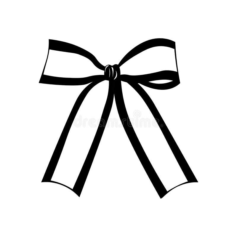 Silueta blanco y negro del arco Ejemplo del vector en blanco stock de ilustración