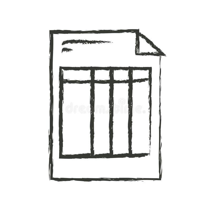 Silueta borrosa monocromática de la forma de la factura stock de ilustración
