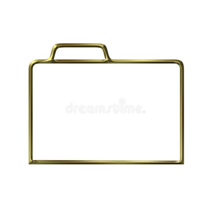 Silueta cerrada de oro de la carpeta ilustración del vector
