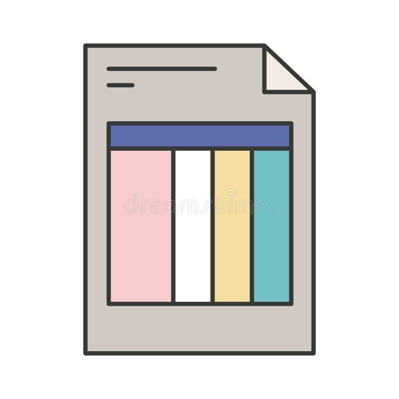 Silueta colorida de la forma de la factura stock de ilustración