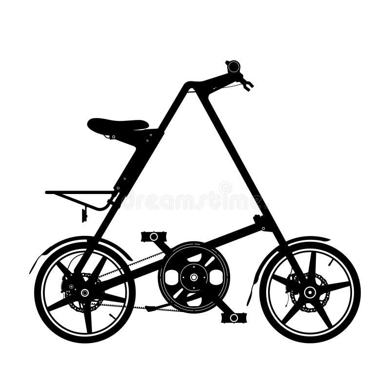 Silueta compacta de la bici stock de ilustración