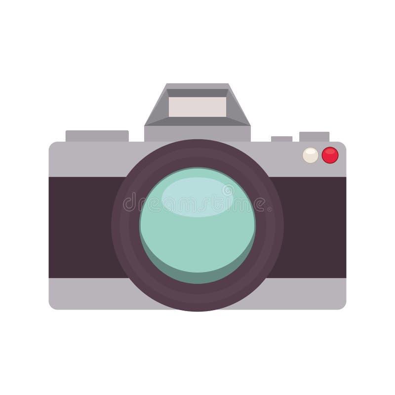 Silueta con la cámara análoga de la foto libre illustration