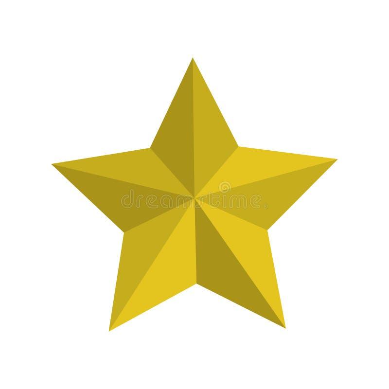 Silueta con la estrella amarilla del descuento ilustración del vector