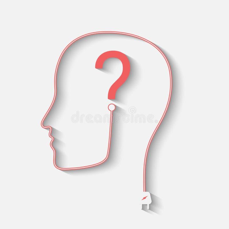 Silueta con la pregunta libre illustration