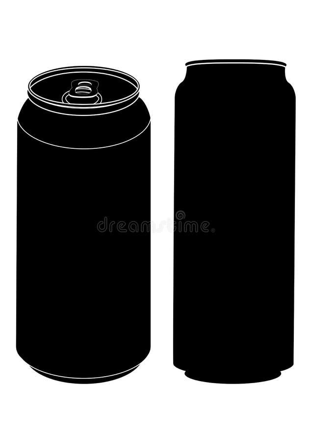 Silueta conservada de la cerveza. stock de ilustración