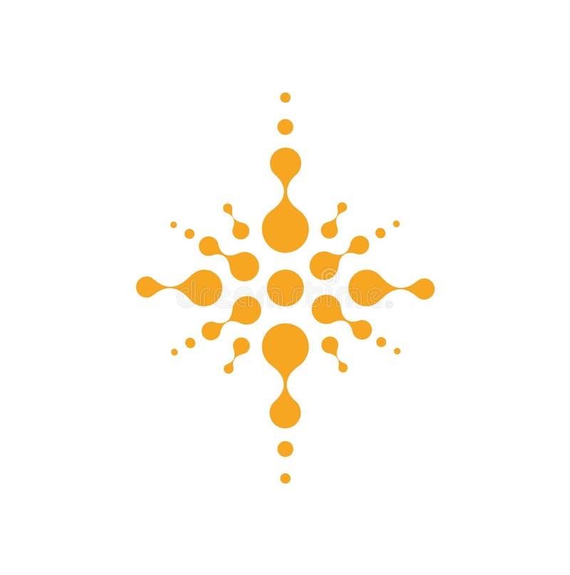 Silueta cruzada abstracta, símbolo cristiano del templo, muestra abstracta de Jesús, logotipo de la religión Icono del vector de  ilustración del vector