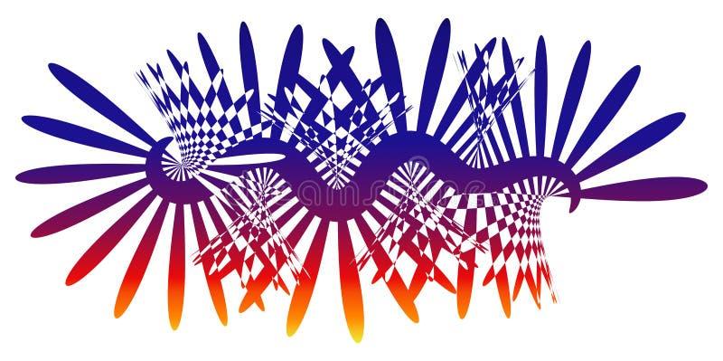 Silueta Dawn Background de los rayos ligeros ilustración del vector
