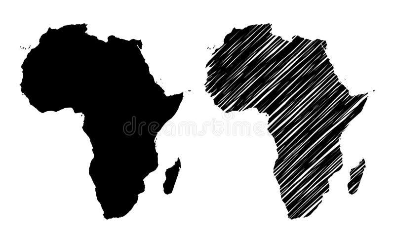 Silueta de África stock de ilustración