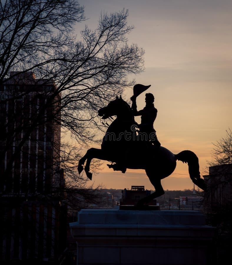 Silueta de Andrew Jackson imagen de archivo libre de regalías