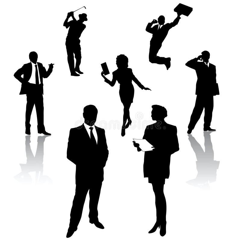 Silueta de hombres de negocios ilustración del vector