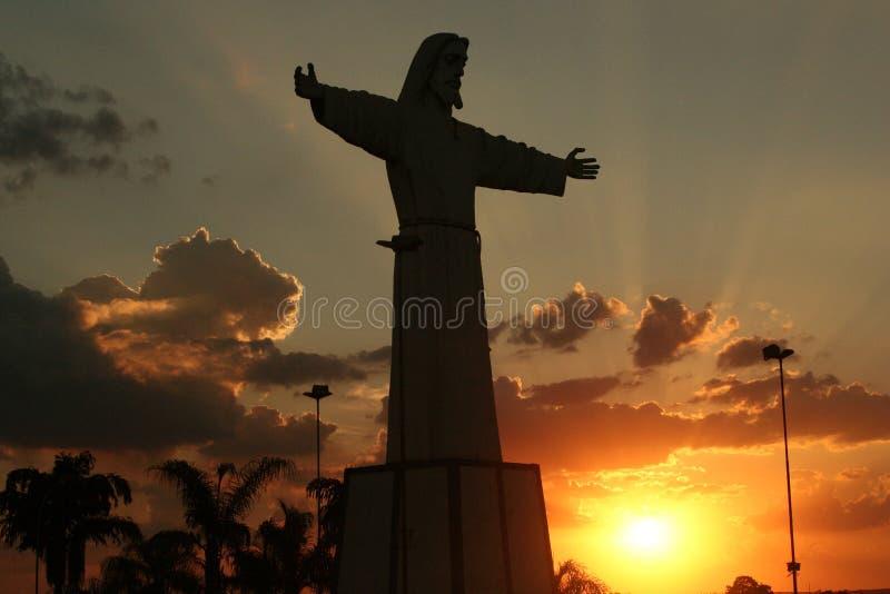 Silueta de Jesús fotografía de archivo