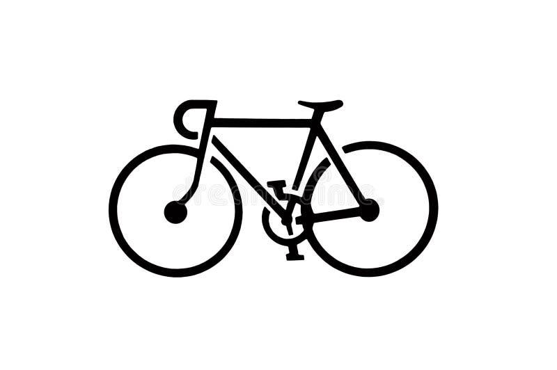 Silueta de la bicicleta stock de ilustración