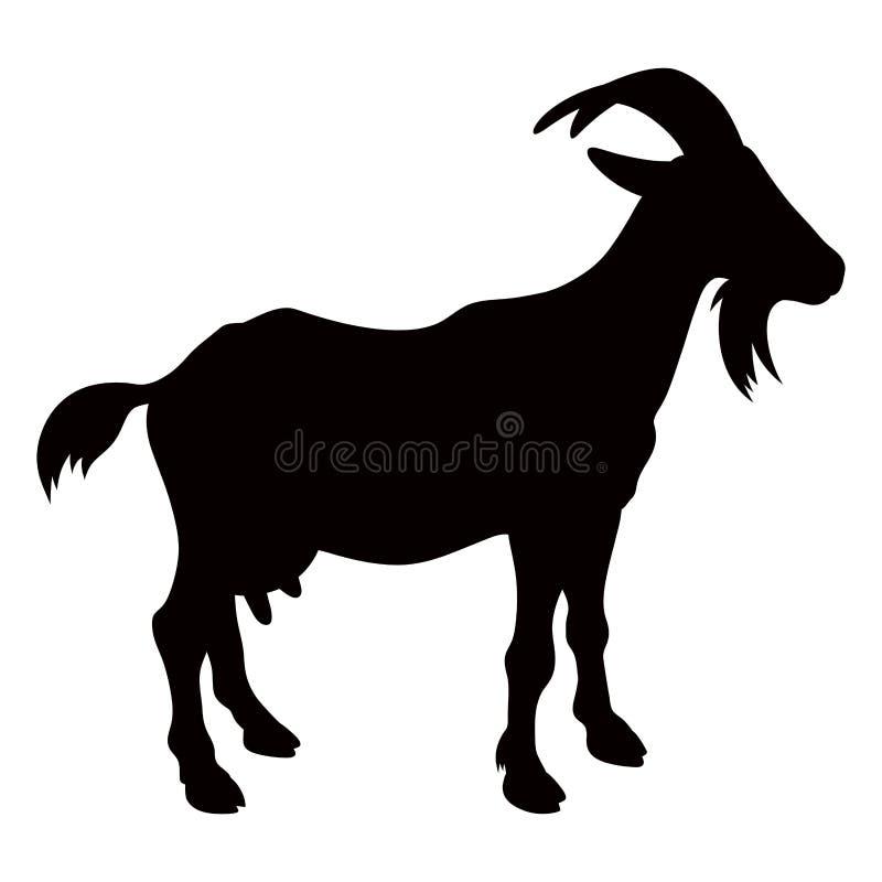 Silueta 001 de la cabra stock de ilustración