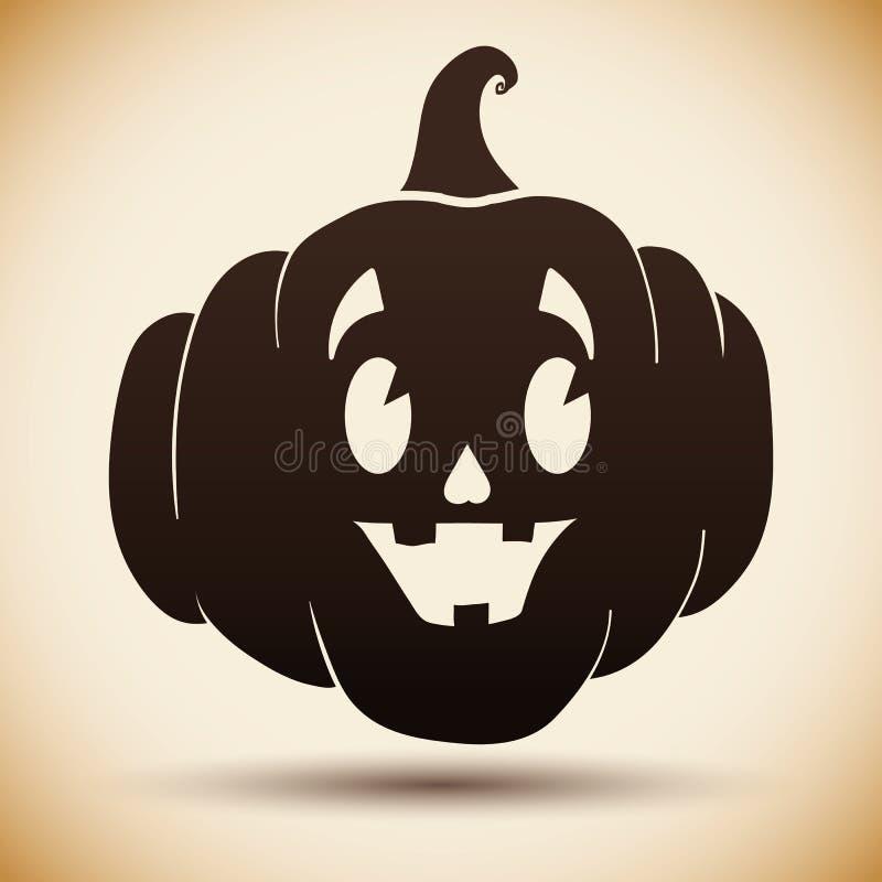Silueta de la calabaza de Halloween ilustración del vector