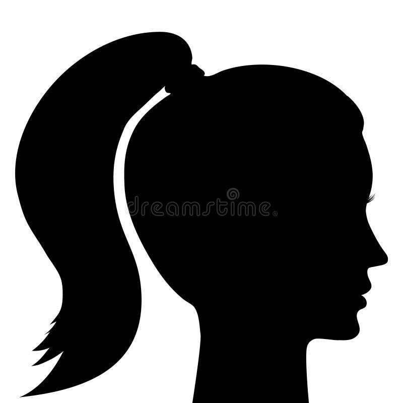 Silueta de la cara del ` s de la muchacha Mujer joven 15 imagen de archivo