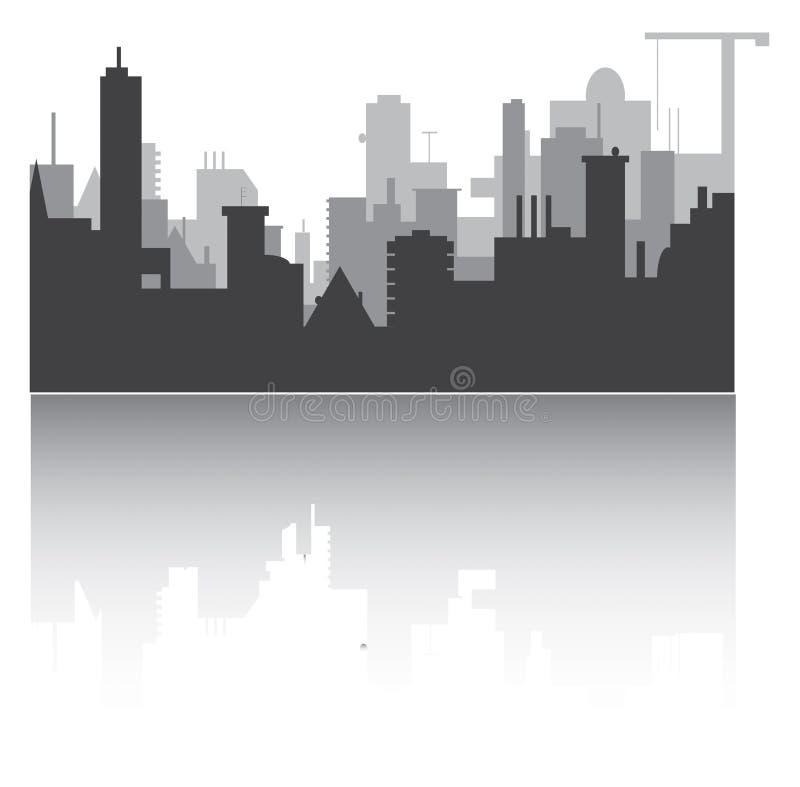 Silueta de la ciudad ilustración del vector