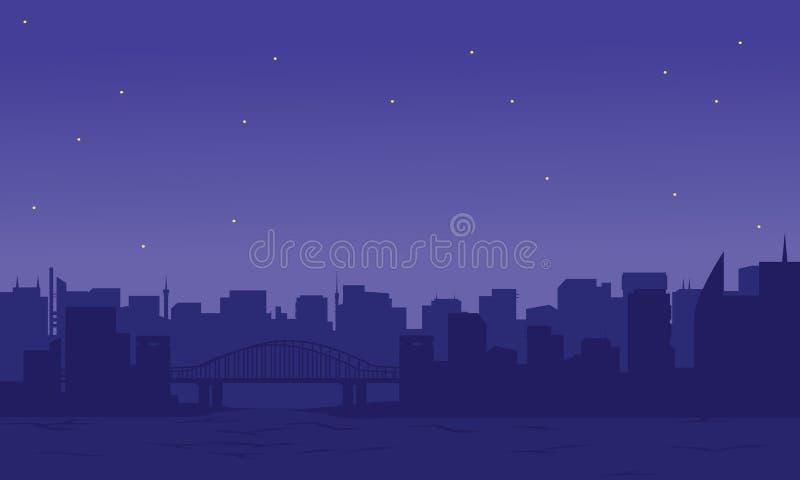 Silueta de la ciudad dos ilustración del vector