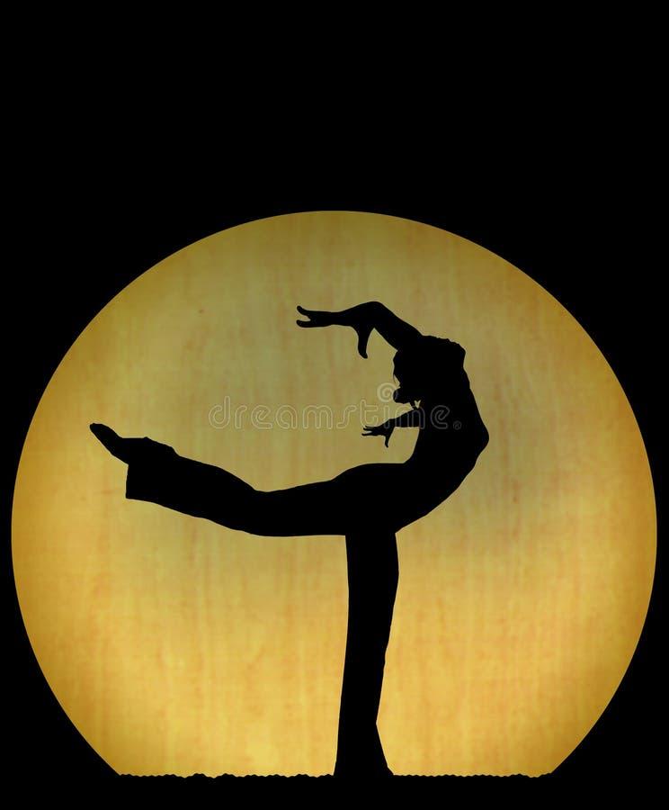 Silueta de la danza imagenes de archivo
