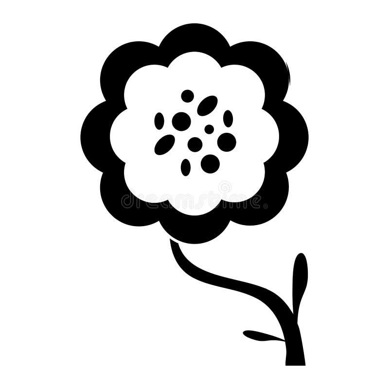silueta de la decoración de la flor de la peonía libre illustration