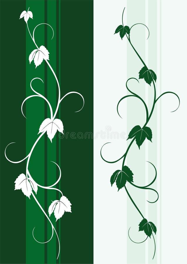 Silueta de la decoración de la vid libre illustration