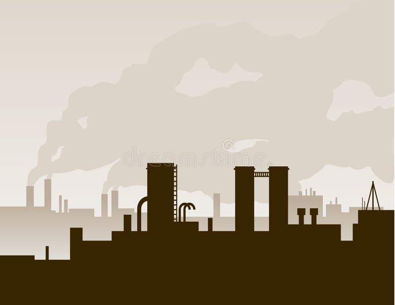 Silueta de la fábrica libre illustration