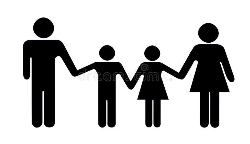 Silueta De La Familia Stock De Ilustración. Ilustración